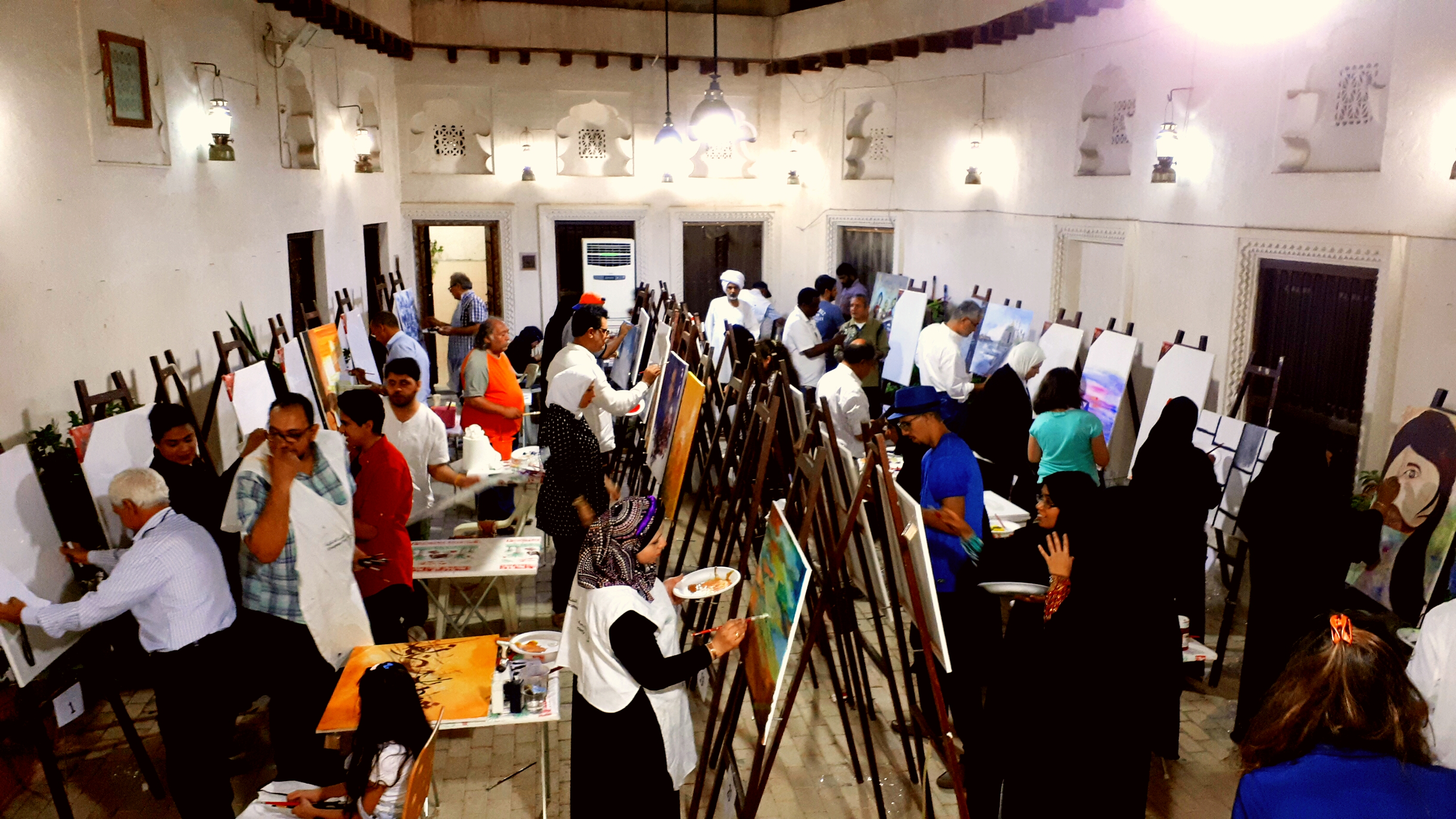A drawing workshop at the Society's headquarters
